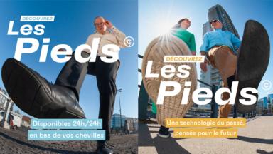 """Avec """"Les Pieds©"""", les piétons au centre d'une nouvelle campagne de Bruxelles Mobilité"""