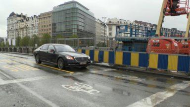Le pont Sainctelette en travaux pour plusieurs mois: deux bandes de circulation disponibles