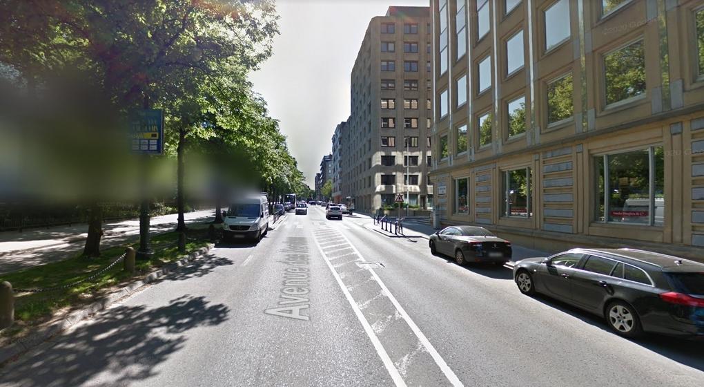 Avenue des Nerviens Bruxelles - Capture Google Street View