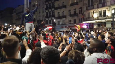 Belgique – Portugal: ambiance de fête dans les rues de Bruxelles