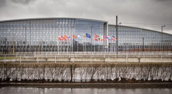 Siège OTAN Haren Evere - Belga James Arthur Gekiere