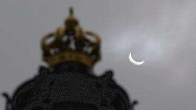 La lune cachera un quart du soleil ce matin