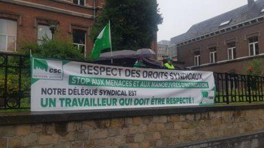 Ixelles : action de la CSC contre le licenciement d'un délégué syndical du home Van Aa