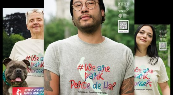 Campagne Propreté dans les parcs We Are Park.brussels - Bruxelles Environnement