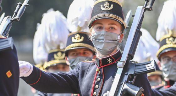 Défilé Princesse Elisabeth Ecole Royale Militaire 21 Juillet 2021 - Belga Laurie Dieffembacq