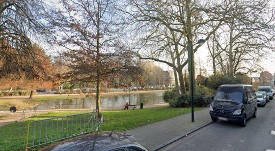 Étang Laeken Avenue Houba de Strooper - Capture Google Street View