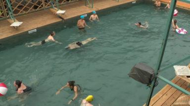 Anderlecht: ouverture d'une piscine en plein air au bord du canal
