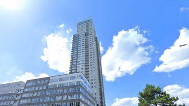 Bruxelles : un incendie au 22e étage de la tour UP-Site