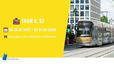 Les trams interrompus entre Legrand et Stéphanie suite à des travaux d'élagage