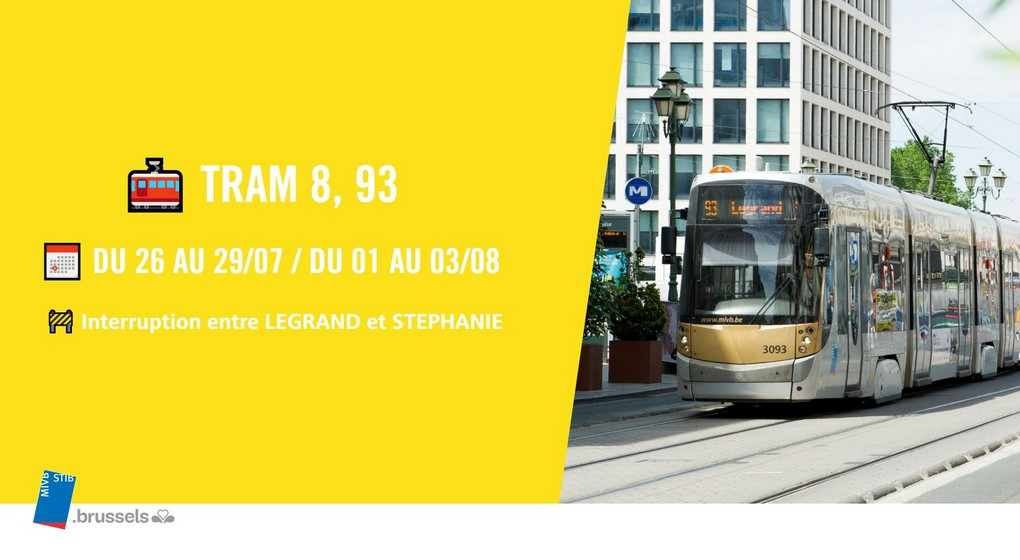 Travaux Stib Tram 8 93 - Stib