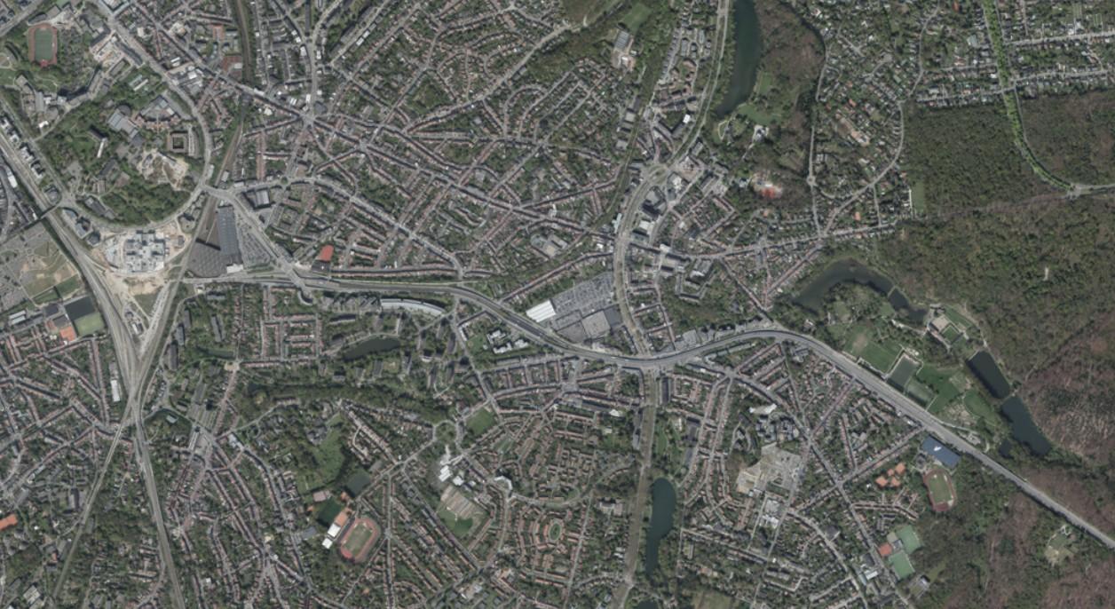 Vue Satellite PAD Delta - Herrmann-Debroux - Perspective Brussels