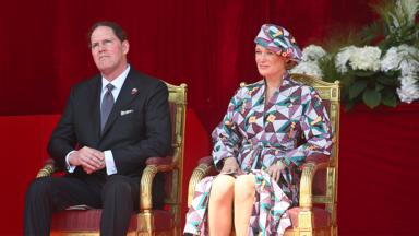 Défilé du 21 juillet : la créatrice bruxelloise Siré Kaba habille la Princesse Delphine