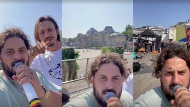 Roméo Elvis et Zwangere Guy sur le toit de Bozar pour un concert aux héros du Covid