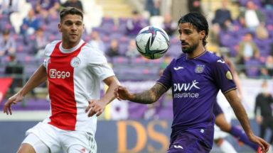 Foot : Anderlecht s'est incliné face à l'Ajax en match amical