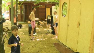 Comme un air de Finlande, avec un sauna mobile au Parc de Bruxelles