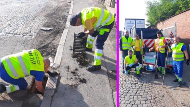 Inondations : opération avaloirs propres à Liège pour les équipes communales de Saint-Josse