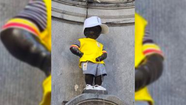 Un Manneken Pis aux couleurs de la Team Belgium, pour l'ouverture des JO