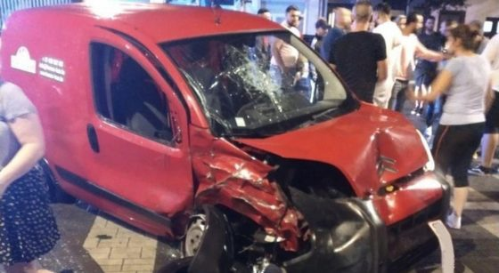 Accident de voiture Rue Masui Rue Destouvelles Schaerbeek - Facebook Collectif 1030-0