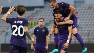 Conference League : le RSC Anderlecht gagne son match aller du 3e tour face à Laçi (0-3)