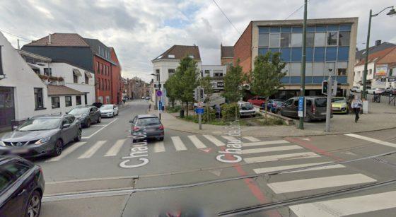Carrefour Chaussée de Saint-Job Place de Saint-Job - Capture Google Street iew