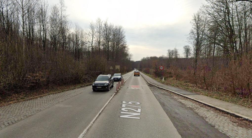 Chaussée de La Hulpe vers Groenendael - Watermael-Boitsfort - Capture Google Street View