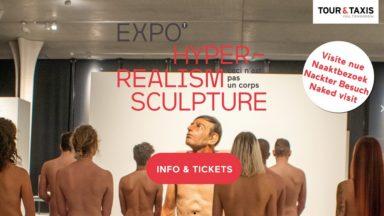 """Tour & Taxis : une visite pour naturistes prévue à l'exposition """"Hyperréalisme"""""""