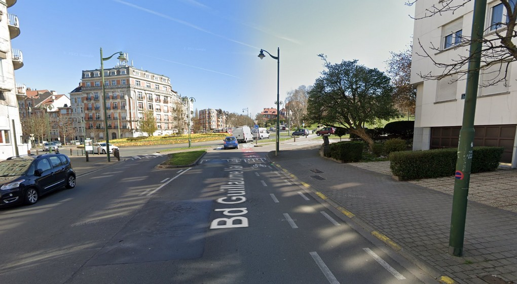 Forest Boulevard Van Haelen - Piste Cyclable - Google Street View