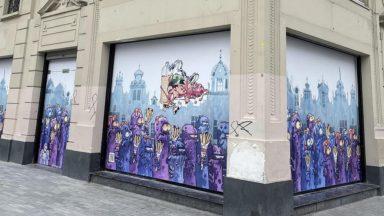 Une nouvelle fresque Kid Paddle dévoilée sur une vitrine du centre-ville