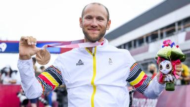 Jeux paralympiques: le Bruxellois Maxime Hordies décroche le bronze au contre-la-montre