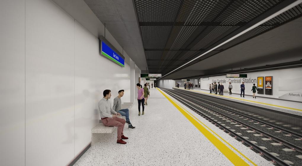 Rénovation Métro Gare Centrale Bruxelles-Central - Image 5 - Stib