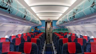L'intérieur de l'avion Tintin décoré, il continuera encore à voler 5 ans (photos)