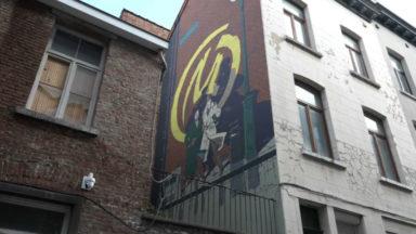La fresque de Blake & Mortimer réapparaît sur un mur des Marolles