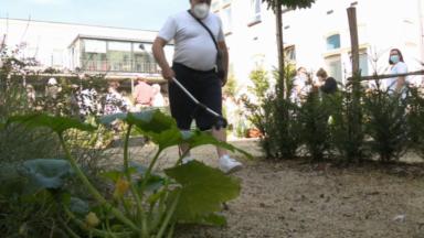 L'hôpital Brugmann inaugure un jardin thérapeutique pour les patients en neuro-réadaptation