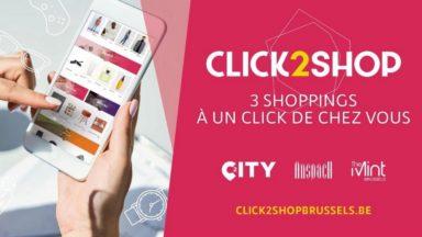 Trois centres commerciaux bruxellois proposent leur propre plateforme d'e-commerce