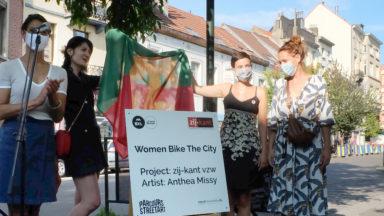"""""""Women Bike The City"""": le nouveau parcours cyclable à Bruxelles le long de points d'ancrage féminins"""