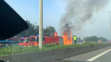 Le ring de Bruxelles fermé à cause d'un camion en feu : la circulation a repris
