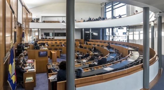 Parlement bruxellois Covid-19 Vide - Belga Hatim Kaghat