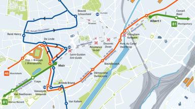 Marché annuel d'Anderlecht ce mardi : la circulation du tram 81 et des bus 46 et 49 perturbée