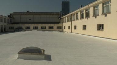 Le toit du Palais du Midi repeint en blanc pour une meilleure isolation