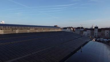 Inauguration à Anderlecht d'une grande installation de 5 808 panneaux photovoltaïques