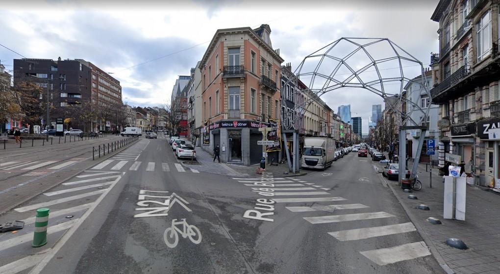 Place Liedts Rue de Brabant - Capture Google Street View