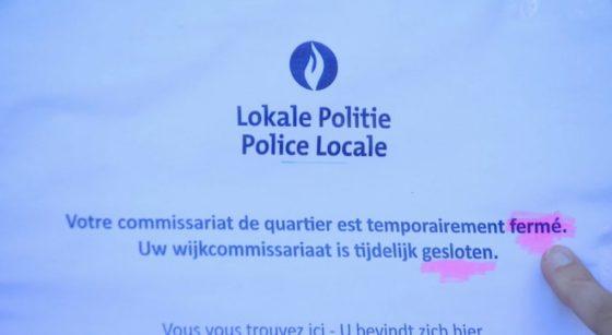 Police Affichage - Commissariat La Roue Anderlecht - BX1