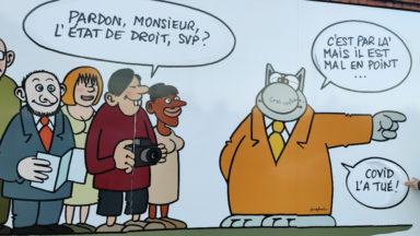 Une fresque du Chat détournée à Bruxelles, Phillippe Geluck réagit